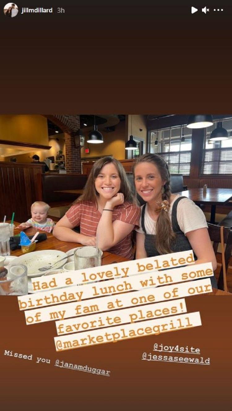 Jill Duggar Joy-Anna Duggar Instagram